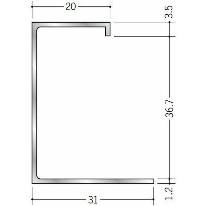 断熱材用ジョイナー コ型 アルミ A型36 シルバー 3m  51028
