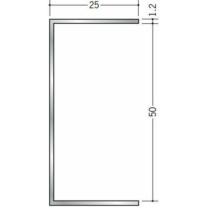 断熱材用ジョイナー コ型 アルミ コ型50BS シルバー 3m  54268