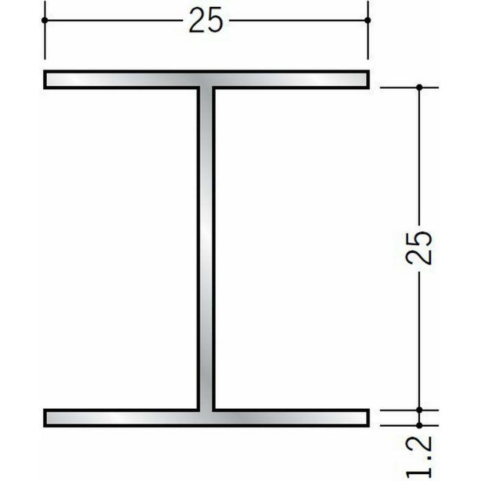 断熱材用ジョイナー H型 アルミ H型25BS シルバー 3m  54261