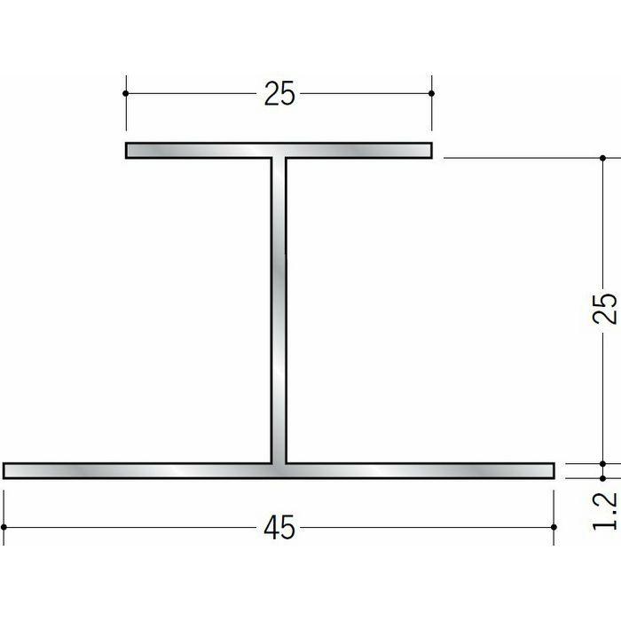 断熱材用ジョイナー H型 アルミ 25HS シルバー 2.73m  54030