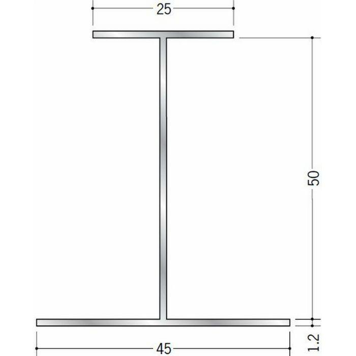 断熱材用ジョイナー H型 アルミ 50HS シルバー 2.73m  54028