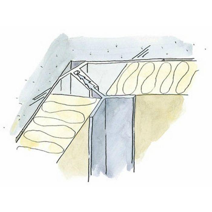 断熱材用ジョイナー 入隅 ビニ-ルPIF-1(ベース) ホワイト 1.82m  35091-3
