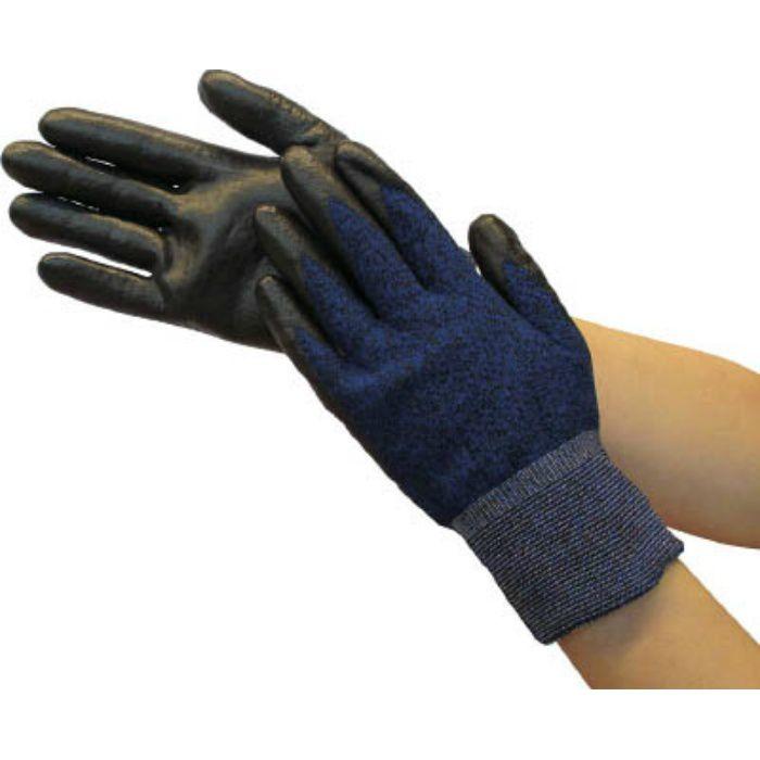 カラーニトリル背抜き手袋 ブラック L TGL3595SPBKL 7700776