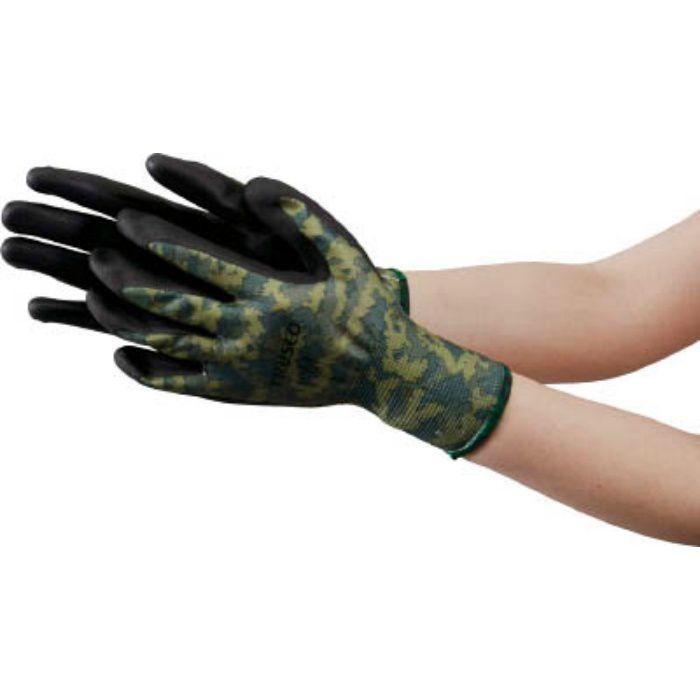 ニトリル背抜き迷彩手袋 Mサイズ TNGCMFM 7641222