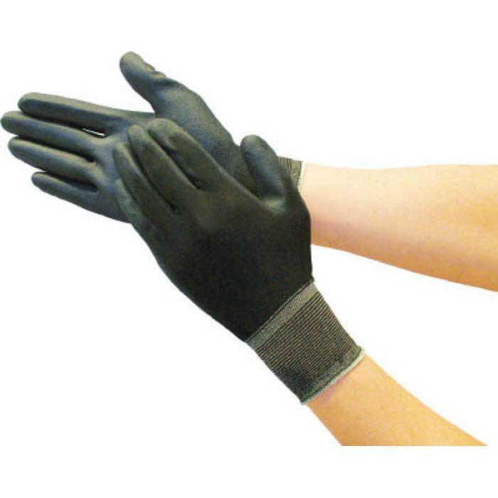 カラーナイロン手袋PU手のひらコート ブラック L TGL3535BKL 7700741