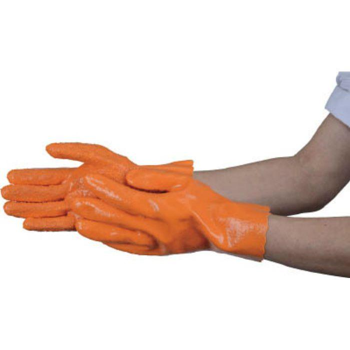 すべり止め付厚手塩ビ手袋 L TPVAGL 4886488