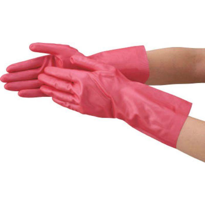 天然ゴム手袋 中厚手タイプ ピンク Mサイズ DPM5494PM 4702662