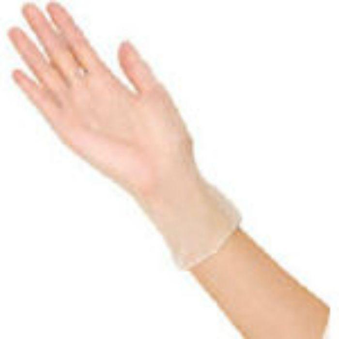 プラスチック手袋粉無100枚入 M 53499