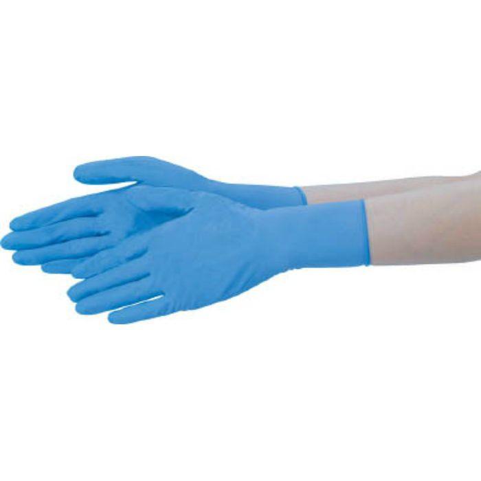 ニトリル手袋 粉なし 青 M NBRPF10BM