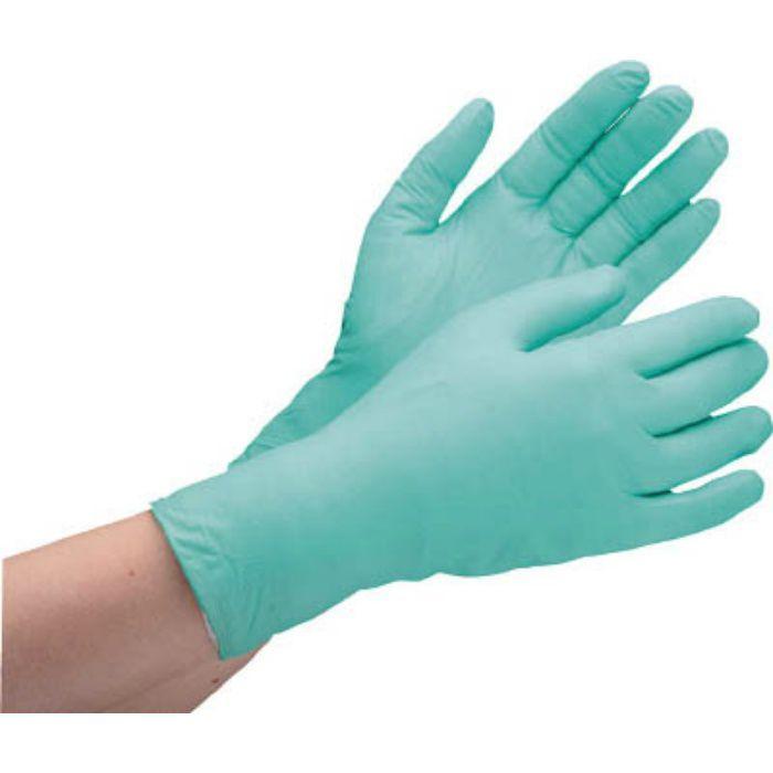 ニトリル使い捨て手袋 薄手 粉なし 200枚入 緑 S VERTE761HS