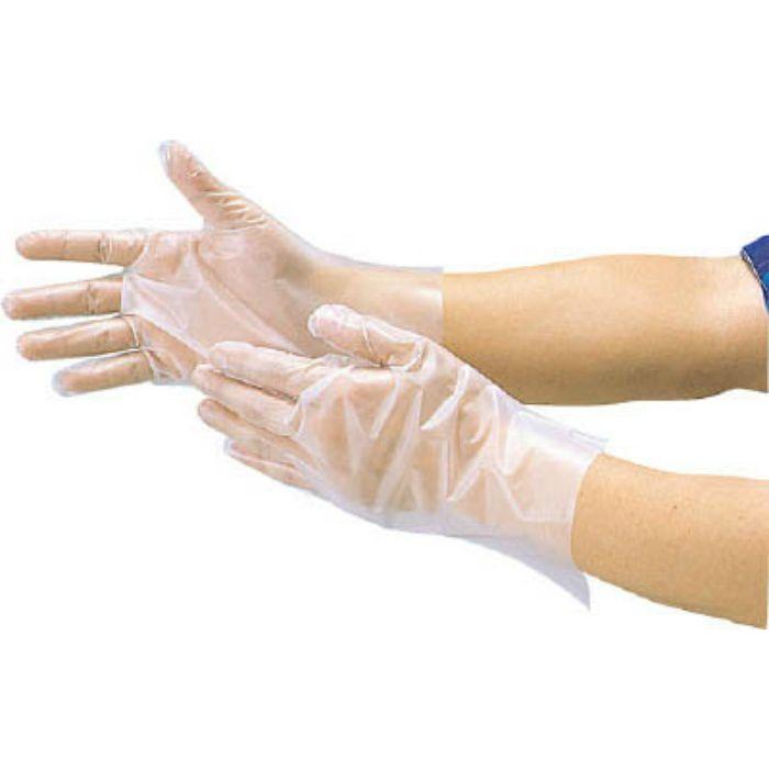 ポリエチレン製使い捨て手袋 Lサイズ DPM1833L 2273322