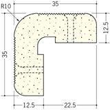 ペンキ・クロス下地材 出隅 ビニール PSコーナーWR12.5mm ミルキー 2.6m  01285