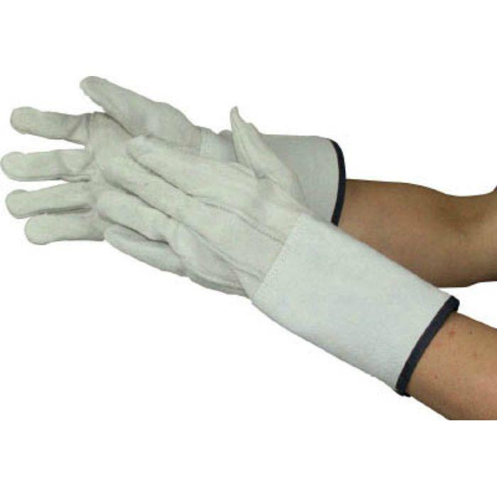 牛床革内綿溶接5本指手袋 485