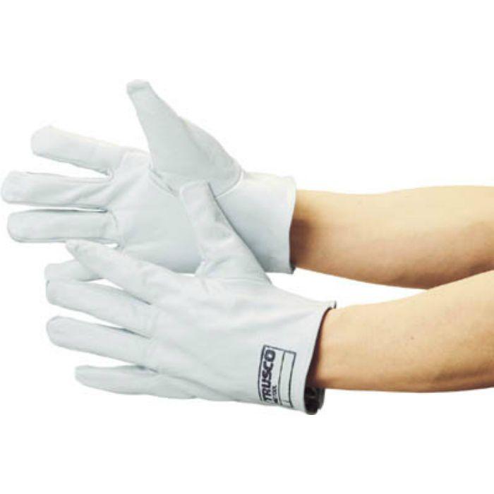 袖なし革手袋 クレスト牛革製 フリーサイズ ホワイト TYKKW 2538415