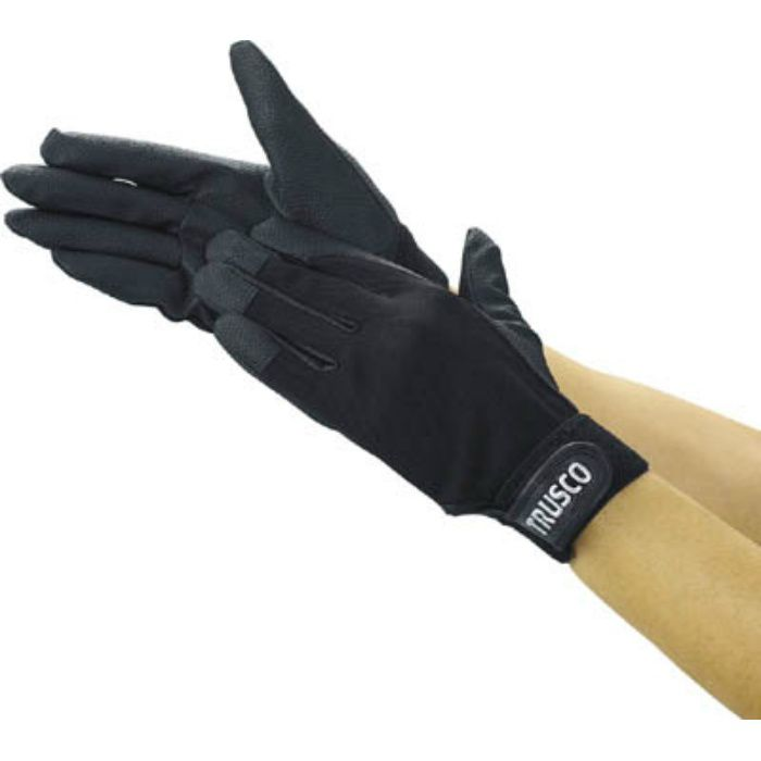 PU厚手手袋 LLサイズ ブラック TPUGBLL 2997487