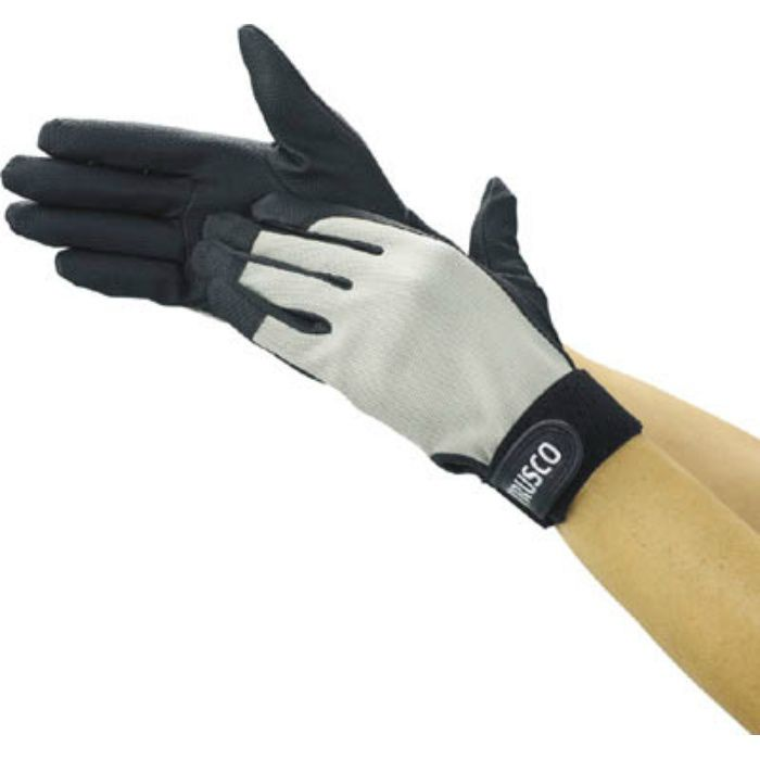 PU厚手手袋 Mサイズ グレー TPUGGM 2997495