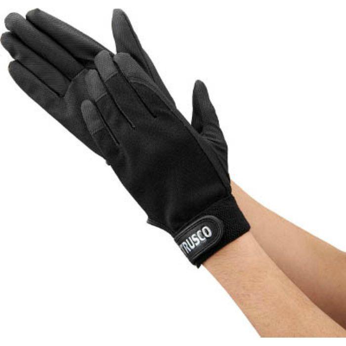 PU薄手手袋エンボス加工 ブラック M TPUMBM 4004701