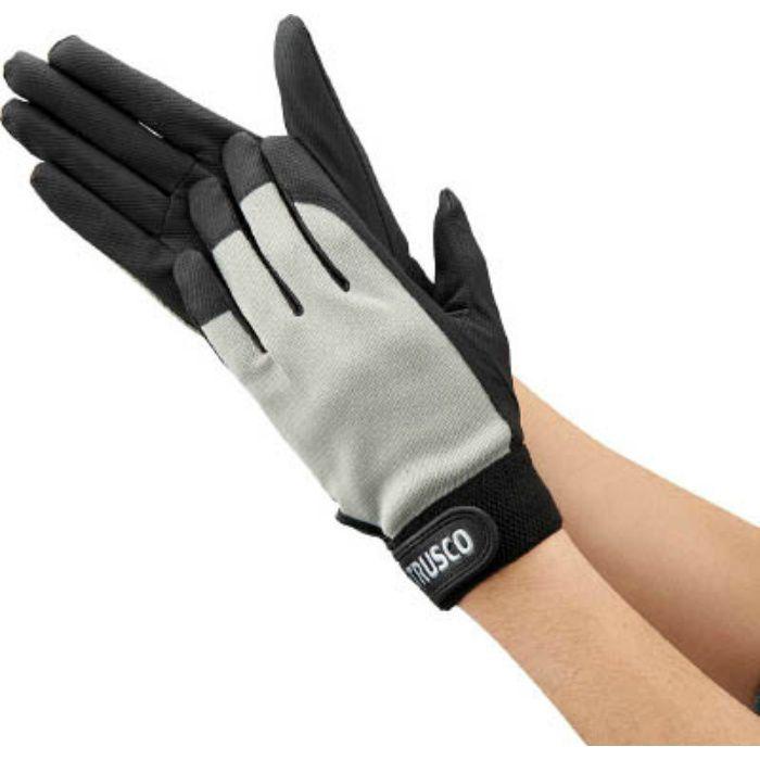 PU薄手手袋エンボス加工 グレー M TPUMGM 4004736