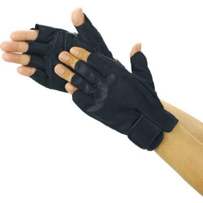 防振防滑手袋 ハーフフィンガー LLサイズ TPG855LL 2869012
