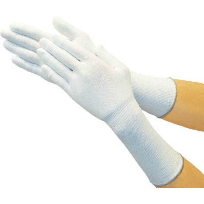 ホワイトHPPEインナー手袋ロング M TGL5100KLM 7708220