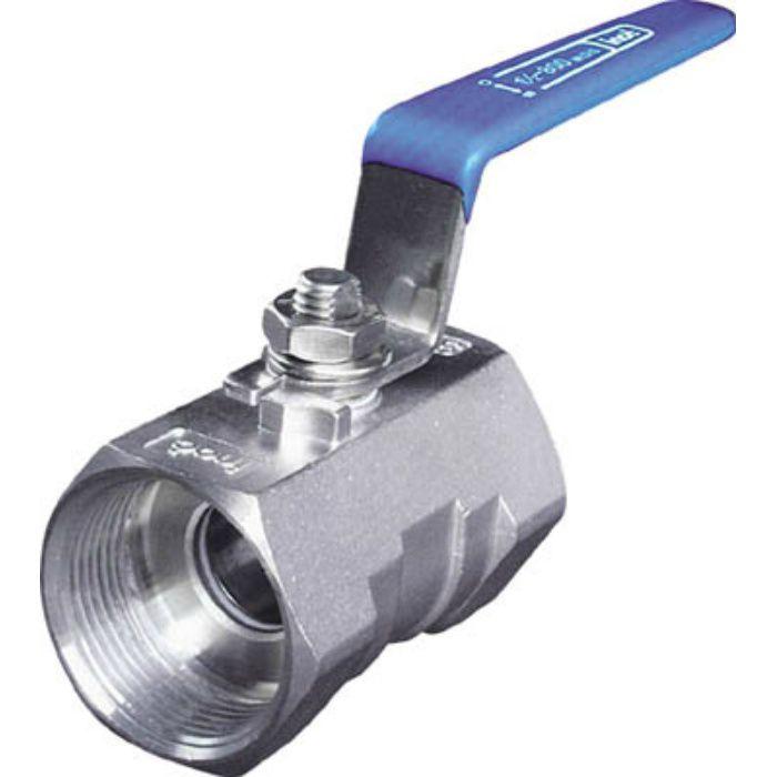 304SRV15A ねじ込みボールバルブ 全長56.5mm 呼び径(A)15