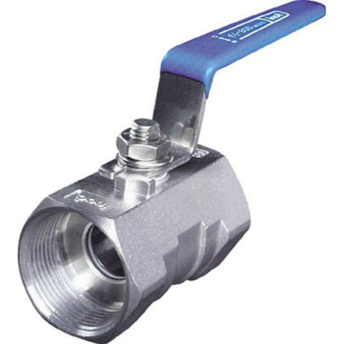 304SRV20A ねじ込みボールバルブ 全長59.0mm 呼び径(A)20