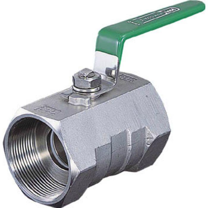 316SRVM50A ねじ込みボールバルブ 全長100.0mm 呼び径(A)50