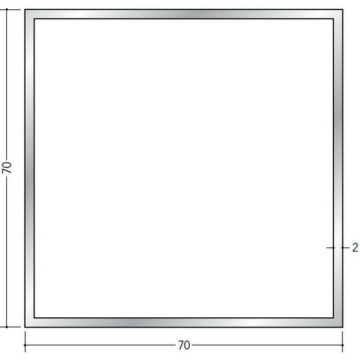 角パイプ アルミ 角パイプ2×70×70 シルバー 2.5m(-3mm、+5mm)  56321