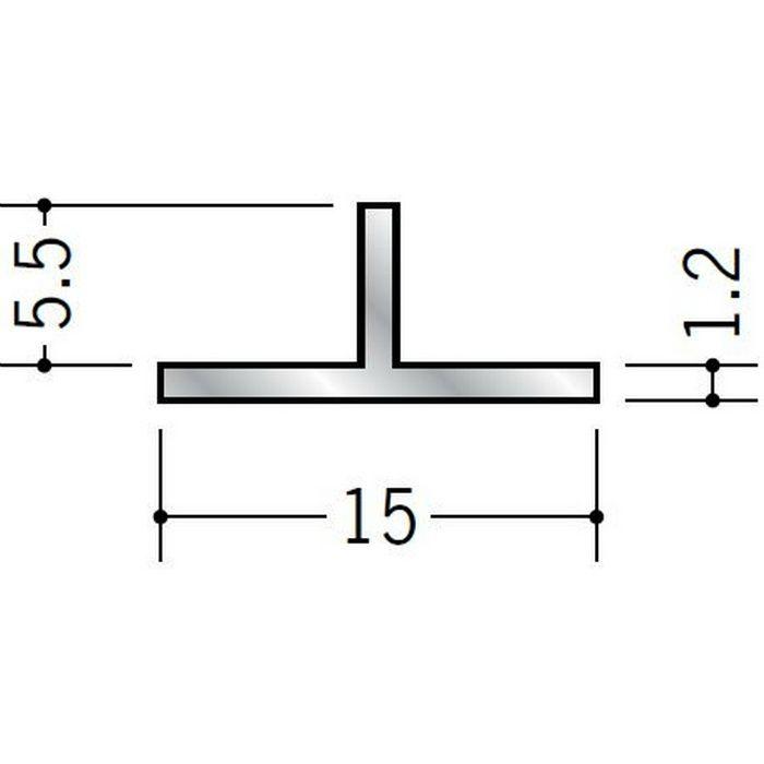 Tバー アルミ Tバー15×5.5 シルバー 3m  53047