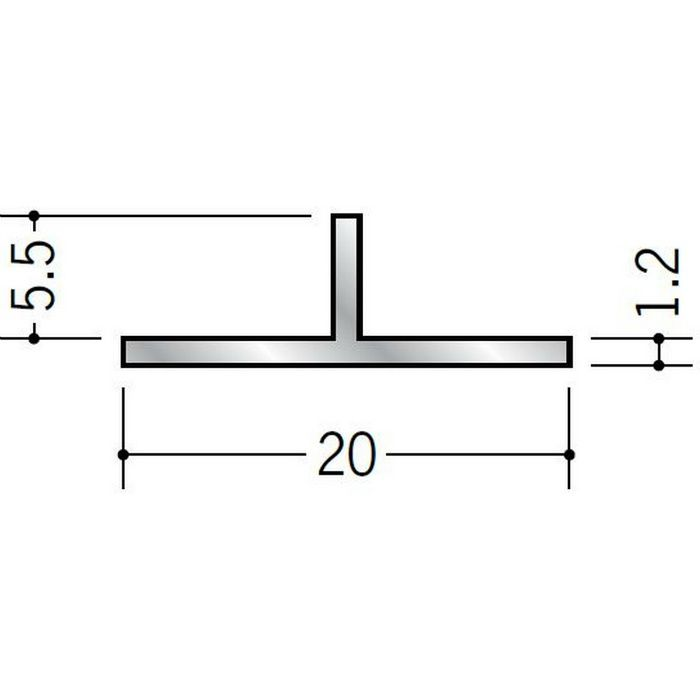 Tバー アルミ Tバー20×5.5 シルバー 3m  53049
