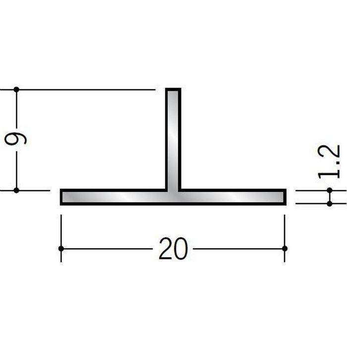 Tバー アルミ Tバー20×9 シルバー 3m  53050
