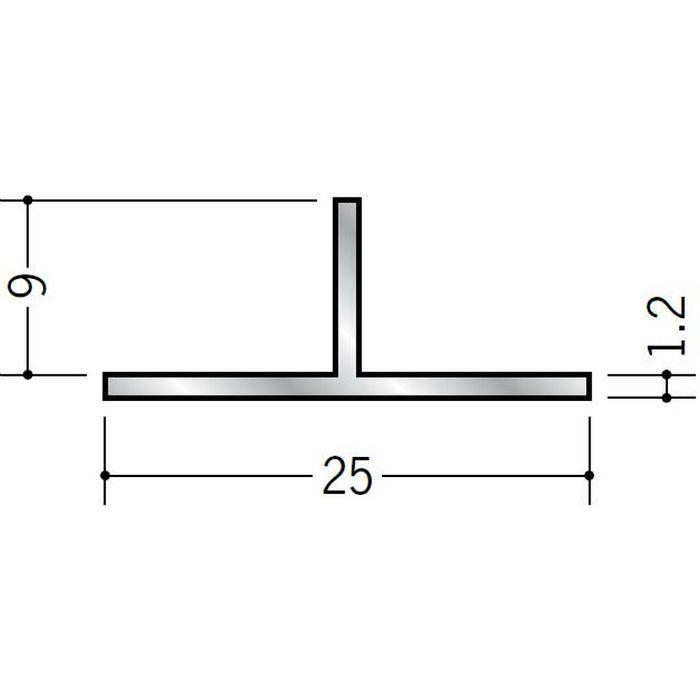 Tバー アルミ Tバー25×9 シルバー 3m  53054
