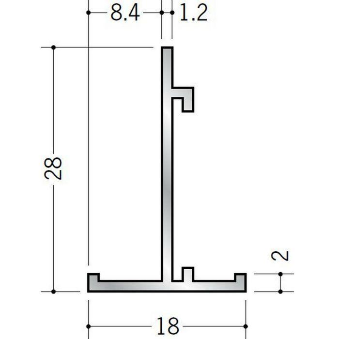 Tバー アルミ TH18×28 シルバー 3m  53053