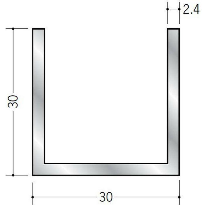 チャンネル アルミ チャンネル2.4×30×30 シルバー 2m(-3mm、+5mm)  56346