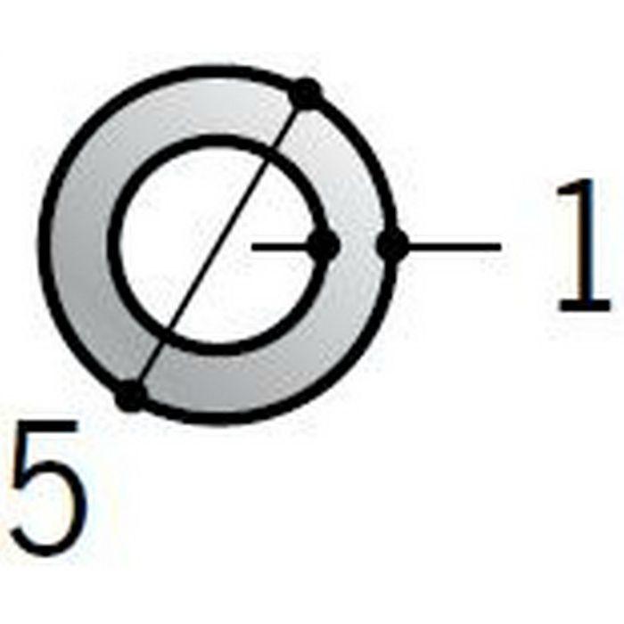 丸パイプ アルミ 丸パイプ5×1 シルバー 1.82m  56348