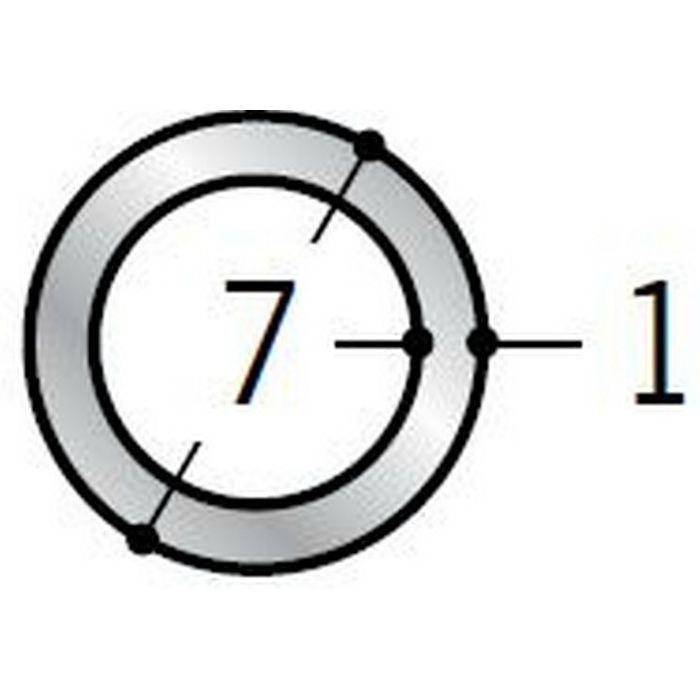 丸パイプ アルミ 丸パイプ7×1 シルバー 1.82m  56350
