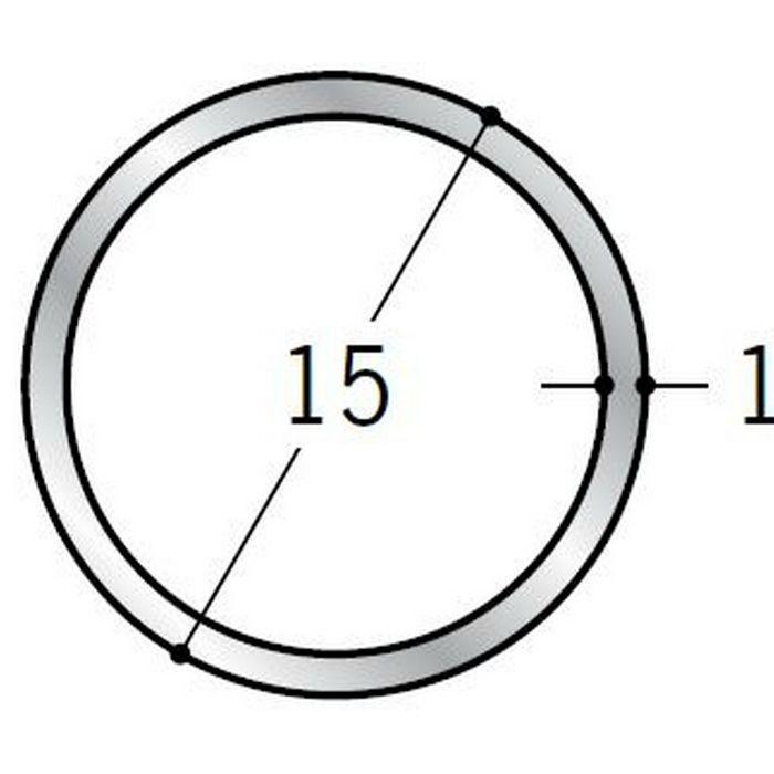 丸パイプ アルミ 丸パイプ15×1 シルバー 1.82m  56353