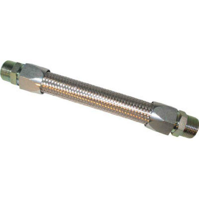 NK34015300 メタルタッチ無溶接式フレキ ニップル鉄 15A×300L