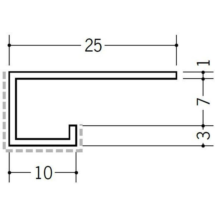 アクリルペイント見切縁 アルミ A型7APカラー カスタムブラック 3m  29070-2