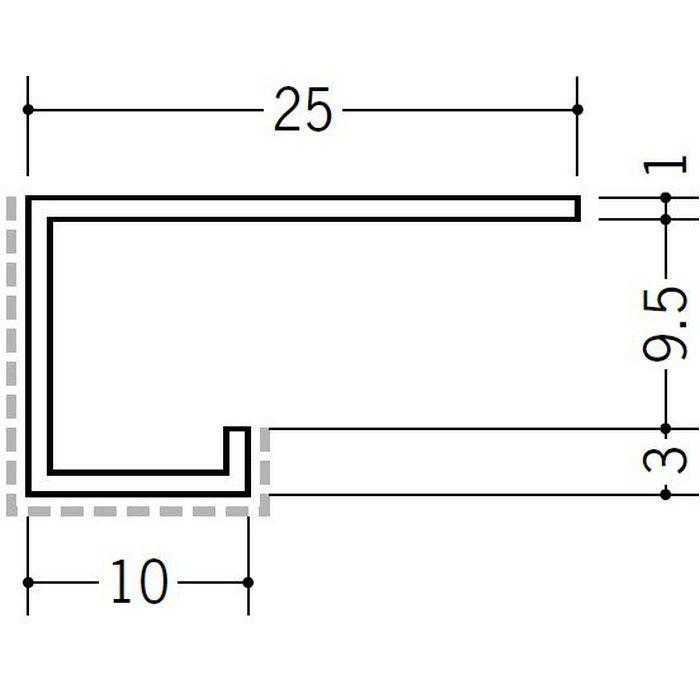 アクリルペイント見切縁 アルミ A型9.5(小)岩綿板用APカラー バニラホワイト 3m  29160