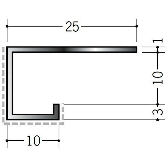 アクリルペイント見切縁 アルミ A型10(小)APカラー カスタムブラック 3m  29071-2