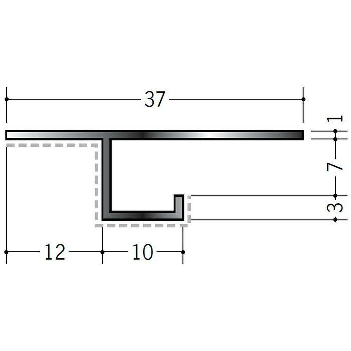 アクリルペイント見切縁 アルミ CS-7APカラー カスタムブラック 3m  29073-2