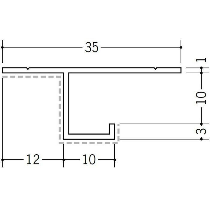 アクリルペイント見切縁 アルミ CS-10APカラー カスタムブラック 3m  29074-2