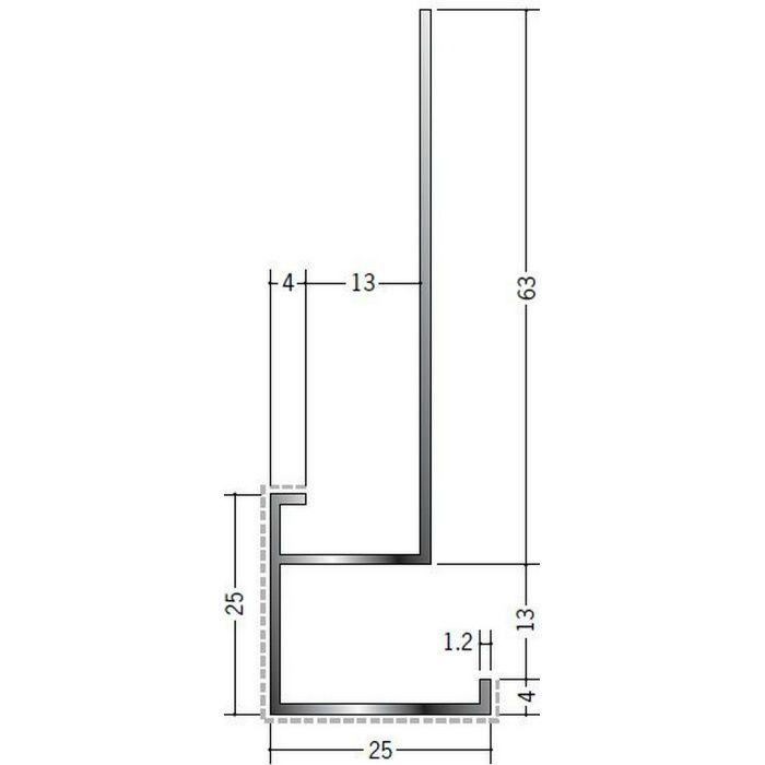 アクリルペイント見切縁 アルミ D型17APカラー バニラホワイト 3m  29079-1