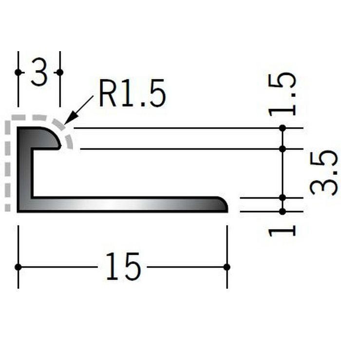アクリルペイントジョイナー コ型 アルミ 3BC カラー マロンアイボリー 2.73m  54250-2