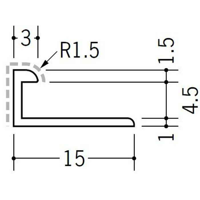 アクリルペイントジョイナー コ型 アルミ 4BC カラー マロンアイボリー 2.73m  54251-2