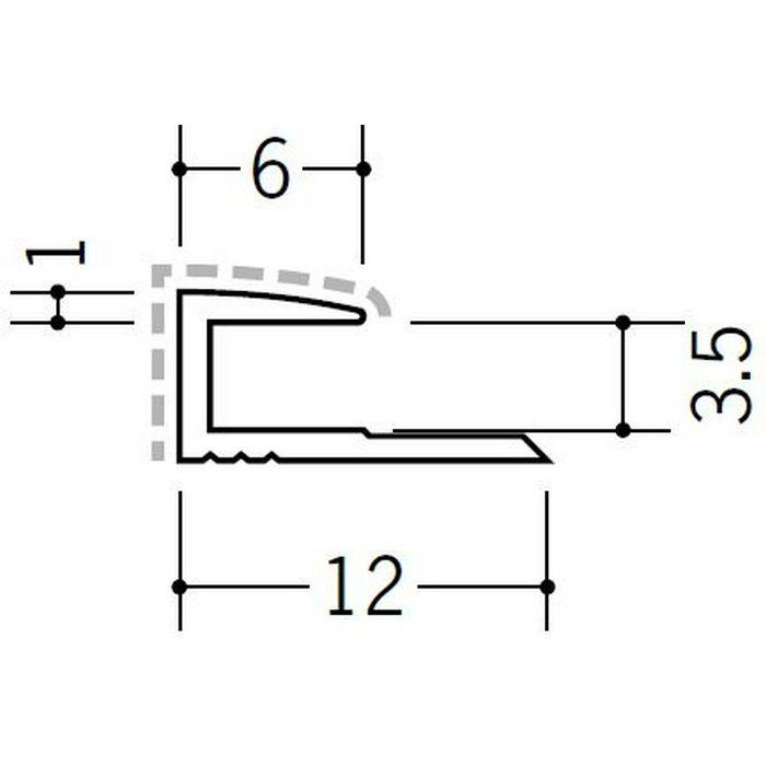 アクリルペイントジョイナー コ型 アルミ 3CA カラー バニラホワイト 2.73m  54200-1
