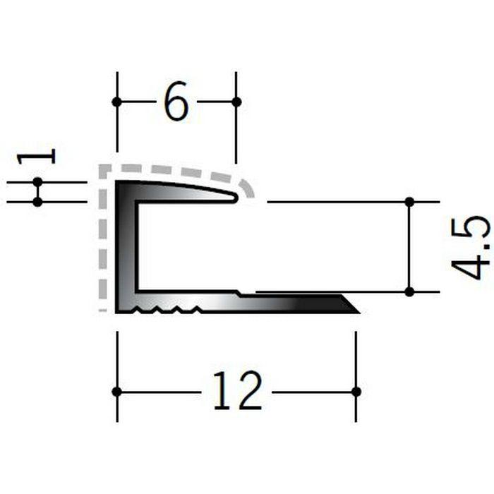 アクリルペイントジョイナー コ型 アルミ 4CA カラー バニラホワイト 2.73m  54201-1