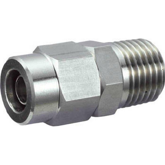 TS802M SUSメイルコネクタ 適用チューブ径8X6 ねじR1/4