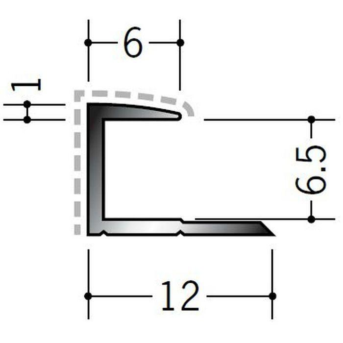 アクリルペイントジョイナー コ型 アルミ 6CA カラー カスタムブラック 2.73m  54203-2
